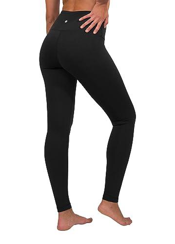 6f75af6ede Amazon.com: 90 Degree By Reflex High Waist Fleece Lined Leggings - Yoga  Pants - Black - Large: Clothing