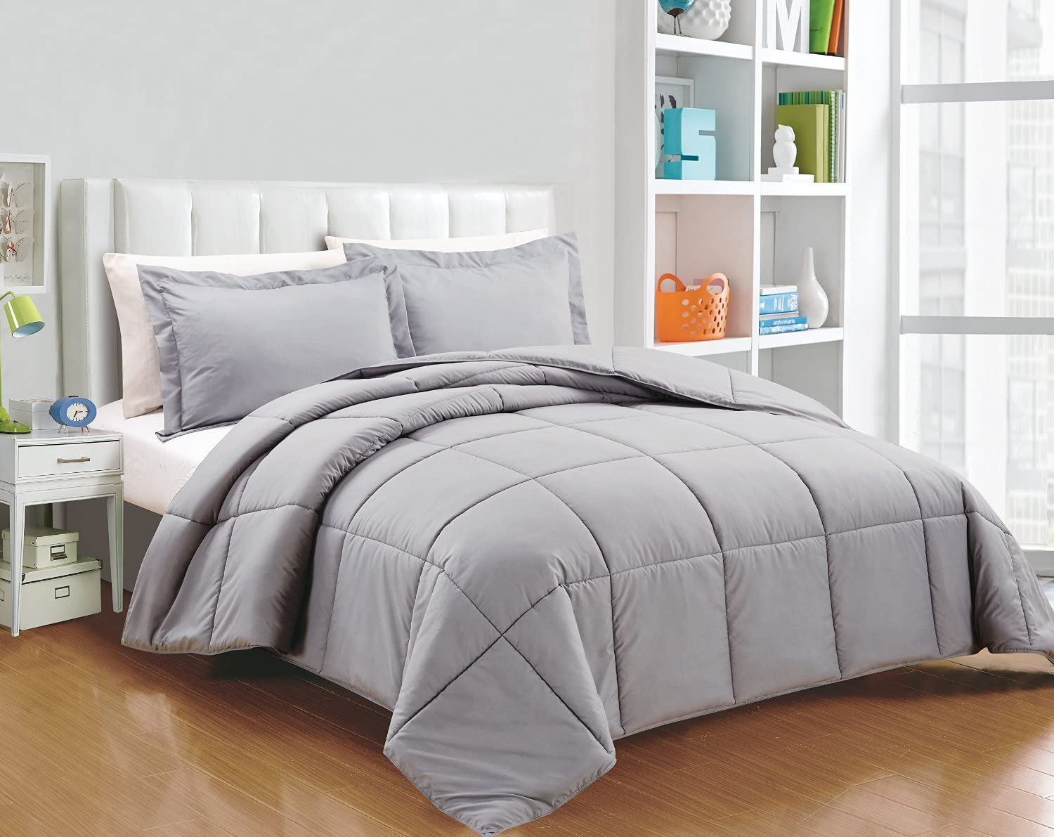 Chezmoi Collection 3-Piece Down Alternative Comforter Set Twin, Sage Green