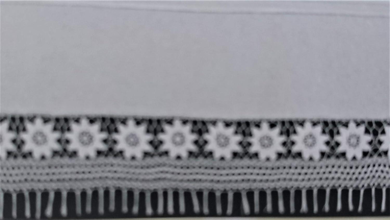 Hossner Baumwoll-Scheibengardine Blickfang wei/ß mit H/äkelspitze