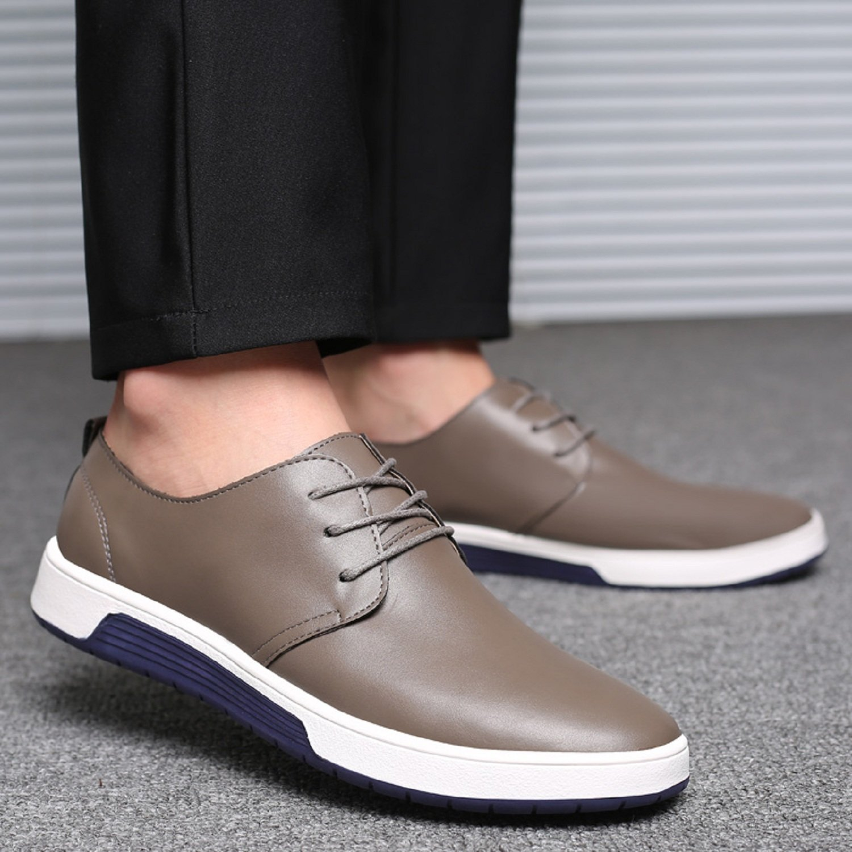 LILY999 Zapatos de Cordones para Hombre Cuero Brogue Vestir