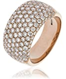 2.45CTS Certified G/VS2 Brilliant Cut Pave Set Diamond Ring in 18k Rose Gold
