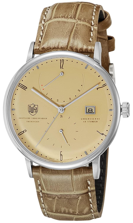 [ドゥッファ]DUFA 腕時計 AlbersAutomatic サンドベージュ文字盤 自動巻 DF-9010-03 メンズ 【正規輸入品】 B01EJ4RU28