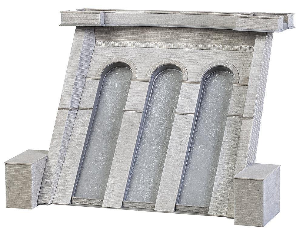Faller fa 130943 – elettricità ottico con Stau muro, accessori per il modello ferrovia, modellismo