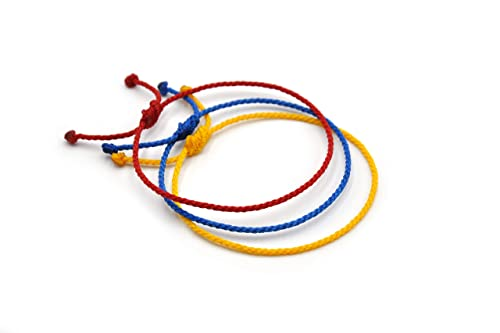 X3 Red Yellow /& Black Mix Cord String Bracelets Adjustable Unisex Simple and Waterproof #X3L Germany Belgium Flag Colors 2 mm Thin Flexible Round Rope Wristbands Braided With Waxed Thread