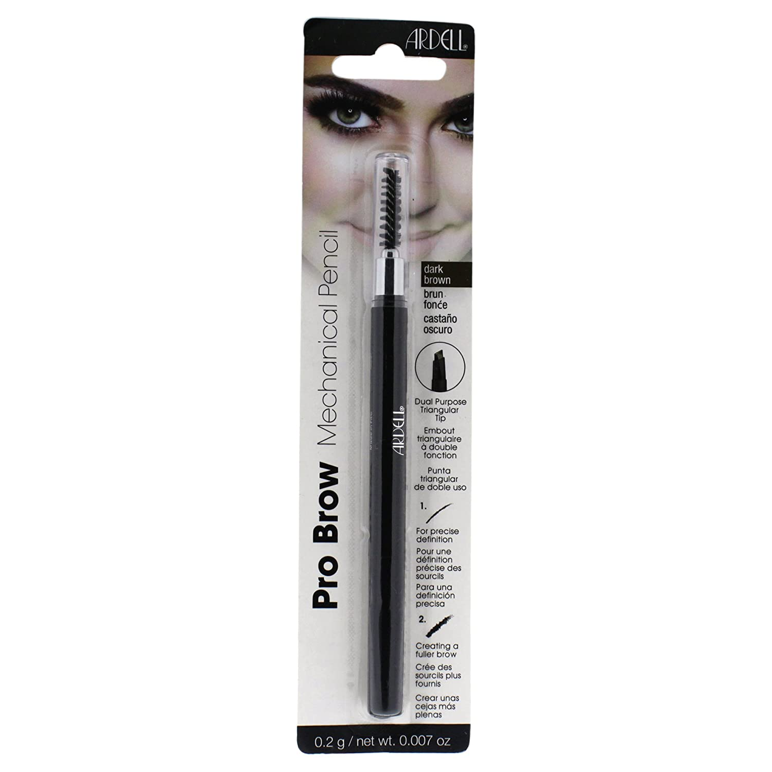 Amazon.com : Ardell Brow Pro Mechanical Pencil - Dark Brown 0.2g : Beauty