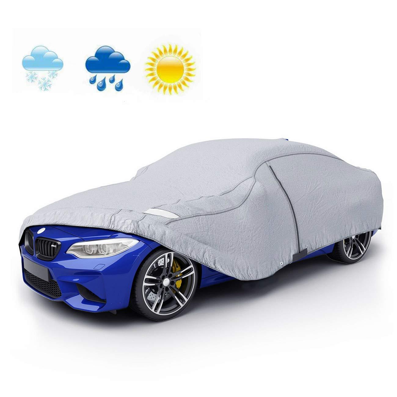 165 Auto Abdeckplane Autoabdeckung Vollgarage Wasserdicht Sonnenschutz UV-Schutz Wetterfest PEVA Umweltfreundliche Materialien 432 120cm VETOMILE M