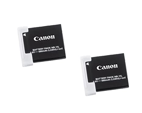 Canon NB 11L 2x Rechargeable 3.6V 680mAh 2.5Wh Lithium Ion Battery Pack Camera Batteries