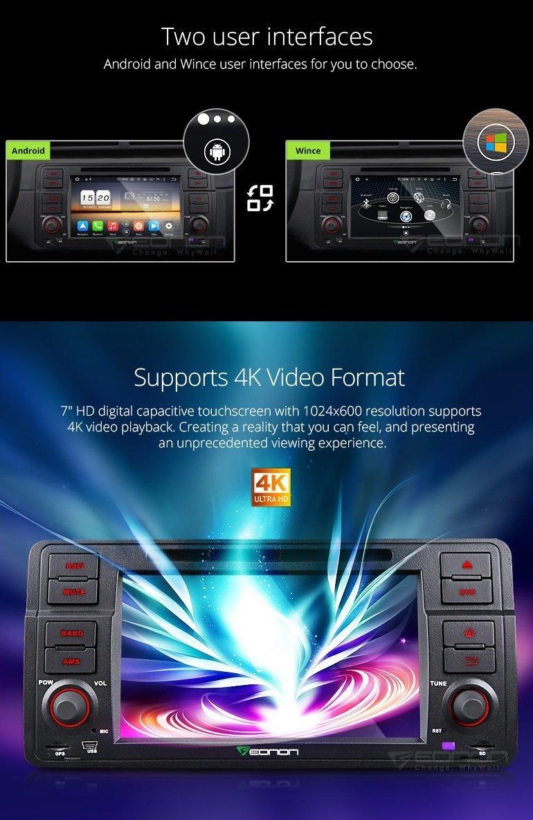 Eonon Ga8150a Bmw E46 Car Stereo Player Radio Business Wiring Harman Android 71 Octa Core 2gb Ram Gps Navigation System 7 Inch Single Din Multimedia Head Unit