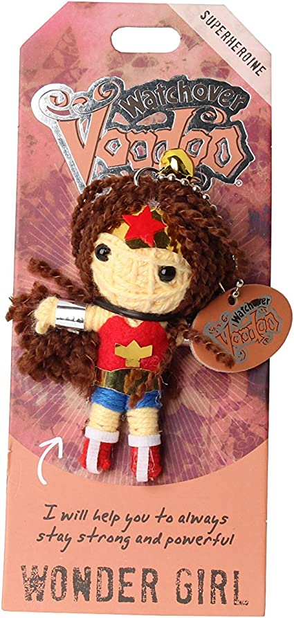 """3/"""" Tall Watchover Voodoo Doll Keychain Bright Future attend Guardian Angel"""