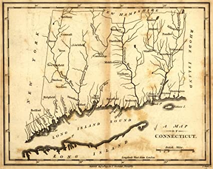 Amazoncom 1794 Map Of Connecticut Connecticut United States - Connecticut-on-the-us-map