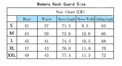 2bf6ae56f0 CYCEOS Womens Long Sleeve Rash Guard Swim Shirts with UPF 50+ - Rashguard  Swimwear Wetsuit Surf Athletic Tops Black Blue Medium: Amazon.co.uk: Sports  & ...