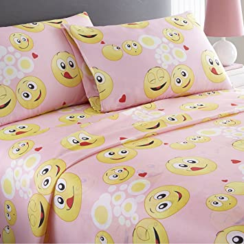 Poop SPIRIT LINEN HOME TW Emoji Four-Piece Comforter Set Twin
