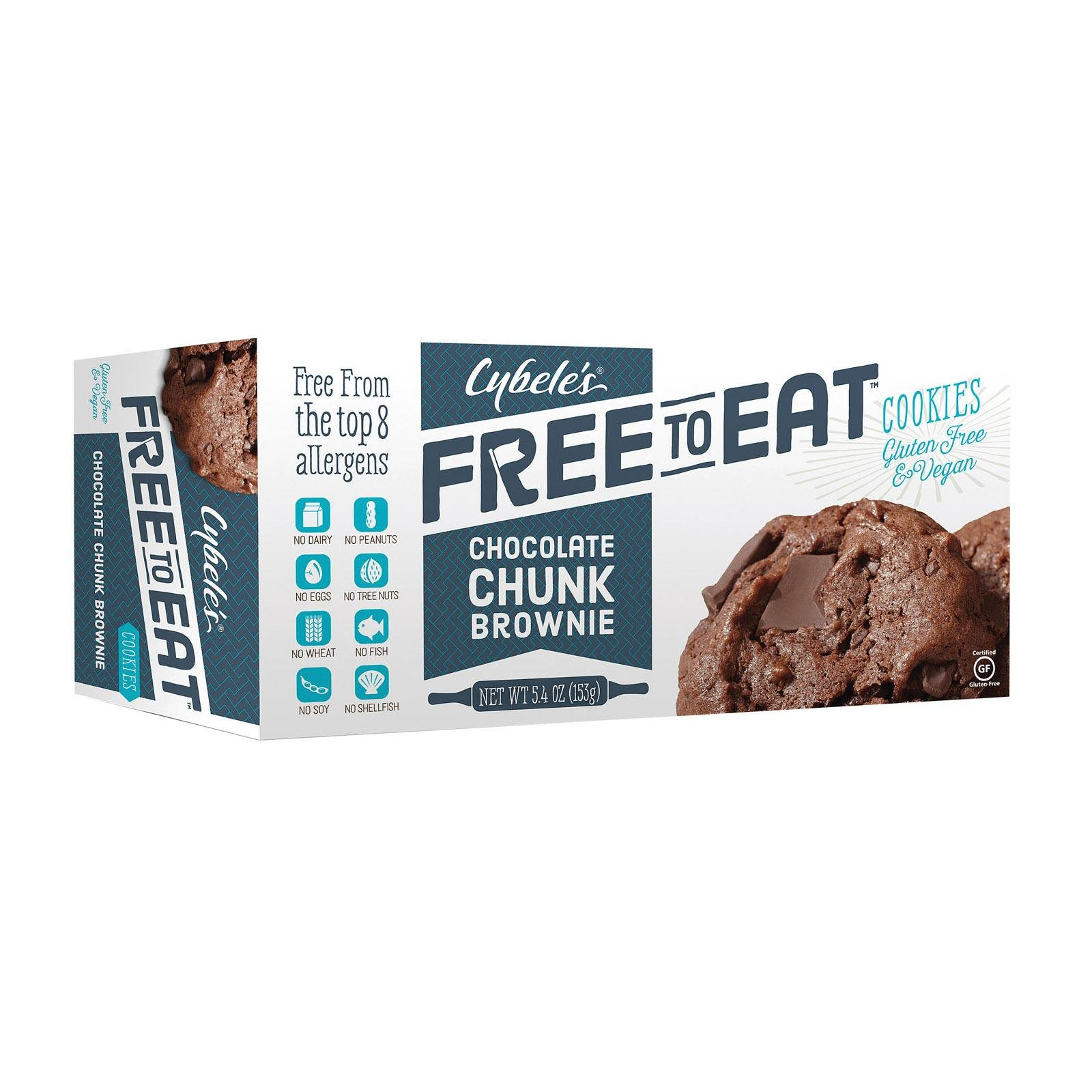 Cybele'S Free To Eat Chocolate Chunk Brownie Cookies (Pack of 6)