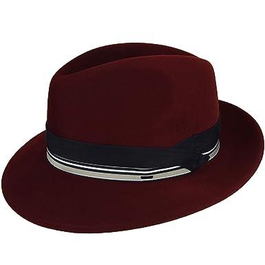 f55b8b7d48fa51 Bailey of Hollywood Men Rector Elite Velour Fedora at Amazon Men's Clothing  store: