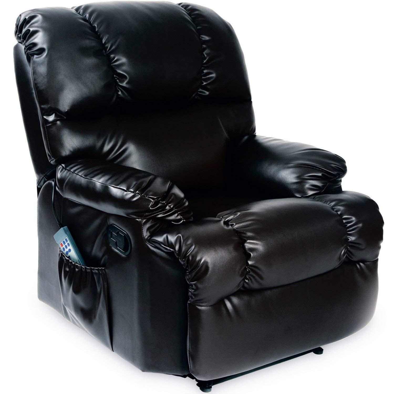 Cecotec Fauteuil de massage relax Chauffant 10 programmes 10 intensités 8 moteurs Télécommande avec minuteur En similicuir de haute qualité Poche porte-objets - product image