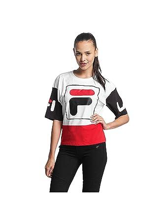 3e28302090f6 Fila Women Overwear T-Shirt Urban Line Cropped Late White L  Amazon.co.uk   Clothing