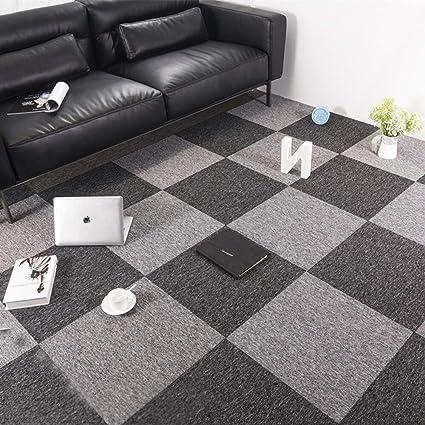Commercial Office Premium Carpet Tiles Rug for Bedrooms Rug Living Room  Kids Rooms Office Decor with Non-Slip Asphalt Bottom Backing 20x20inch ...