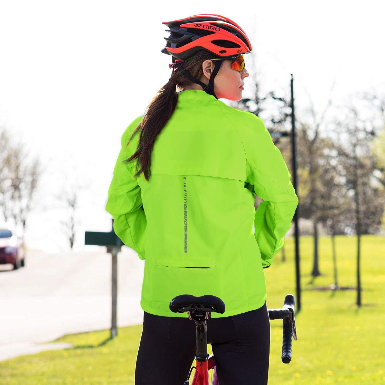 Galeap Cycling Jacket Lightweight Softshell,Reflective and Convertible Jacket Waterproof Bike Jacket,Running Rain Jacket