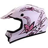 "IV2 ""BUTTERFLY"" Youth / Kid Size High Performance Motocross, ATV, Dirt Bike Helmet [DOT] (XL)"
