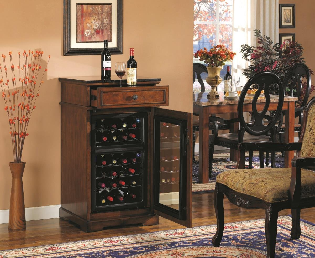Amazon.com: Madison Thermoelectric Wine Coolers In Rose Cherry: Wine Cooler  Furniture Cherry: Kitchen U0026 Dining