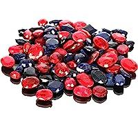 Piedras preciosas de zafiro azul natural rubí Lote 100 CT - 7 piezas de zafiro facetado, gemas sueltas de rubí para…