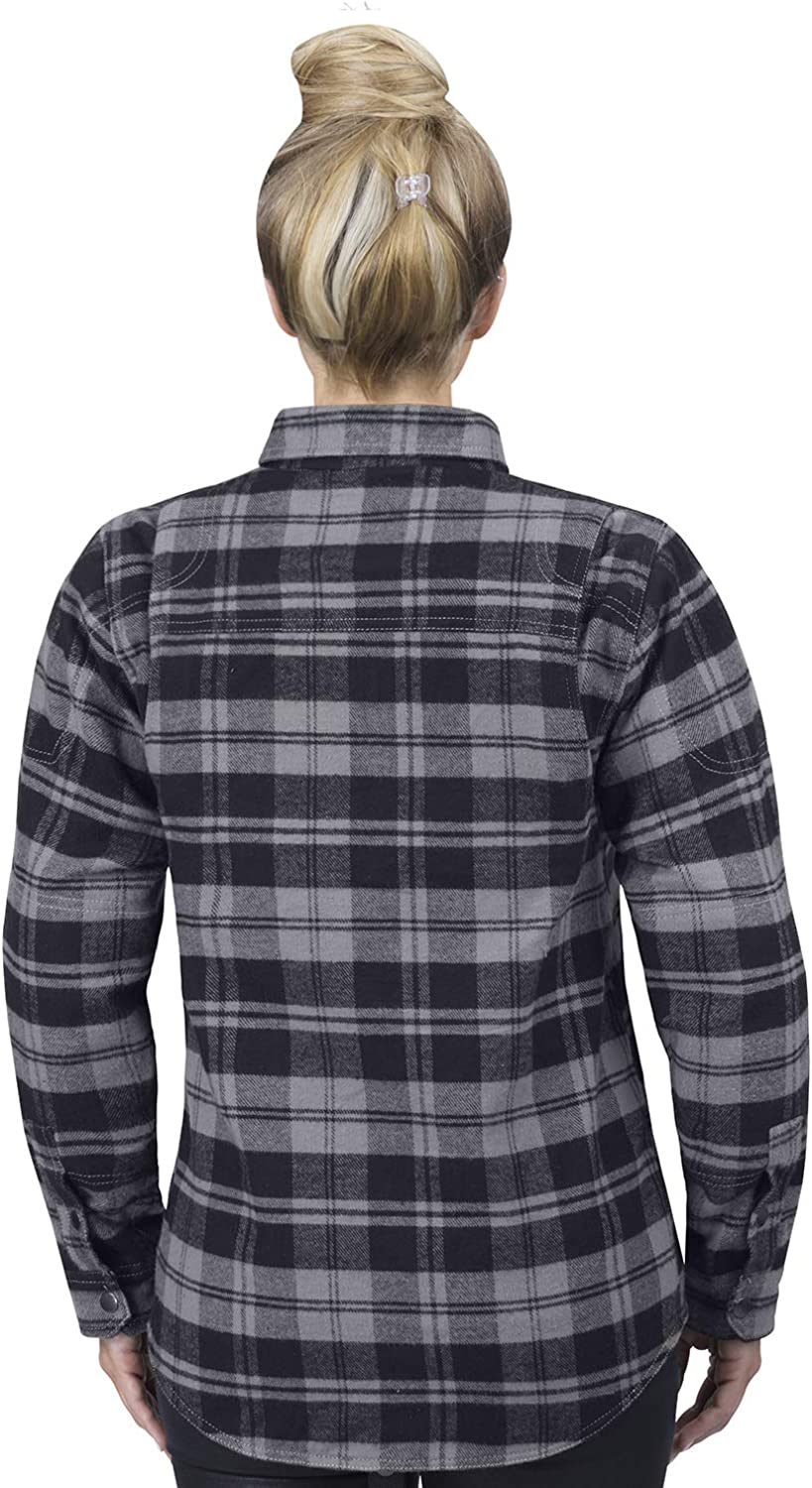 Viking Cycle Motorcycle CE Armor Protection Flannel Shirt for Biker Women