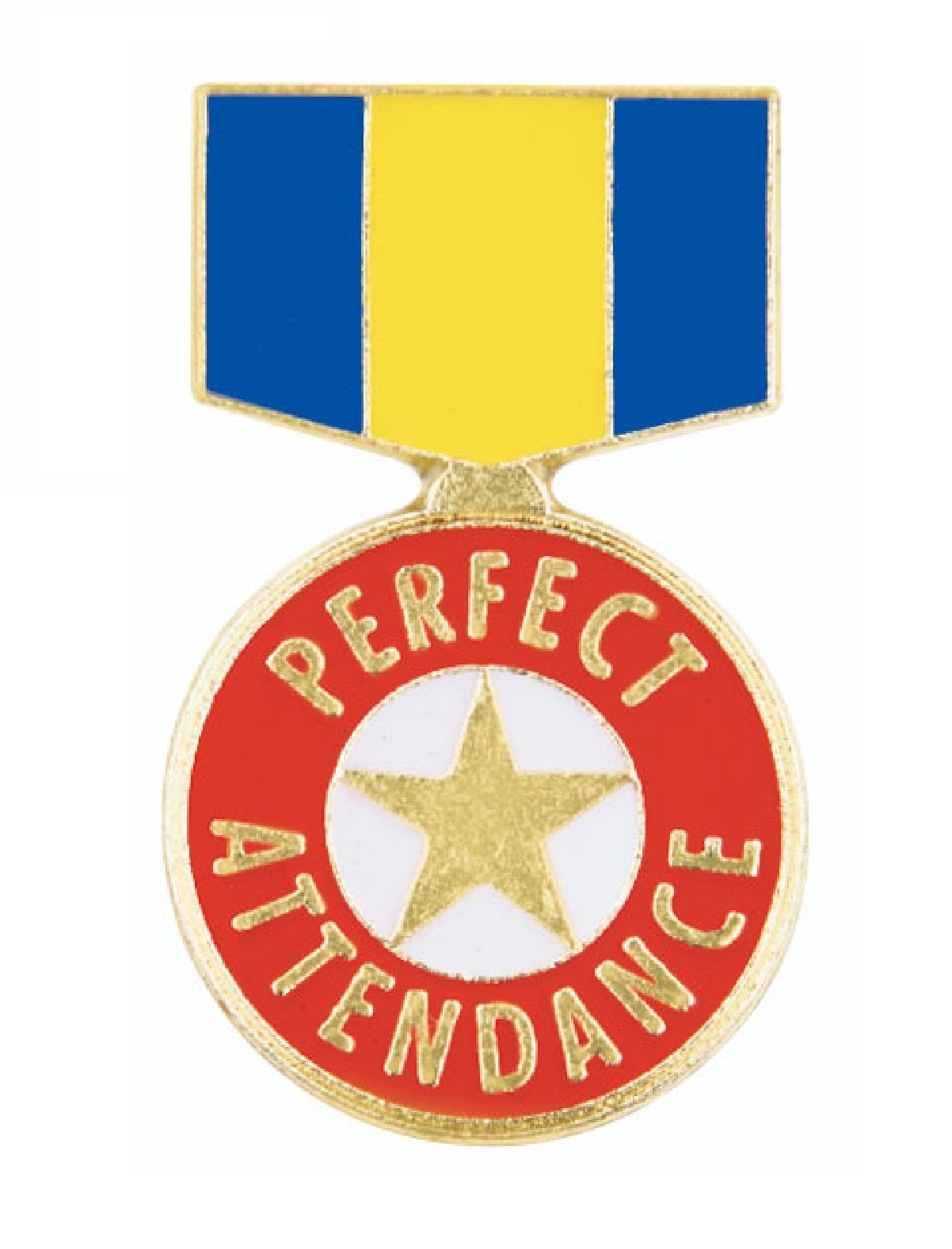 Pack of 100 Perfect Attendance Ribbon Lapel Pins