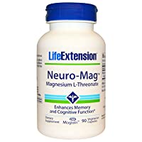 Life Extension Neuro-mag Magnesium L-threonate, 90 Count(2 Pack)