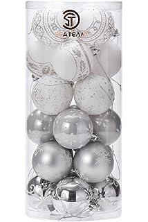 Amazoncom Festive Season White Swirl Shatterproof Christmas Ball