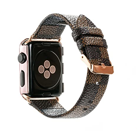 a01015baab9d GOOSUU Watch Band for Apple Watch 42mm Fashion Leather iWatch Sport Series  1 2 3 Replacement