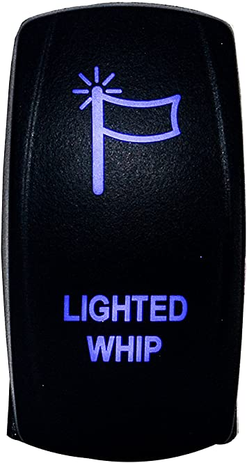 Blue Laser Winch IN OUT Rocker Toggle Switch For UTV POLARIS RZR 4 XP 900 1000