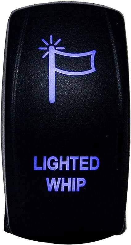 Polaris XP 800 900 White Rocker Switch Waterproof Off Road 20A 12V BLUE Light