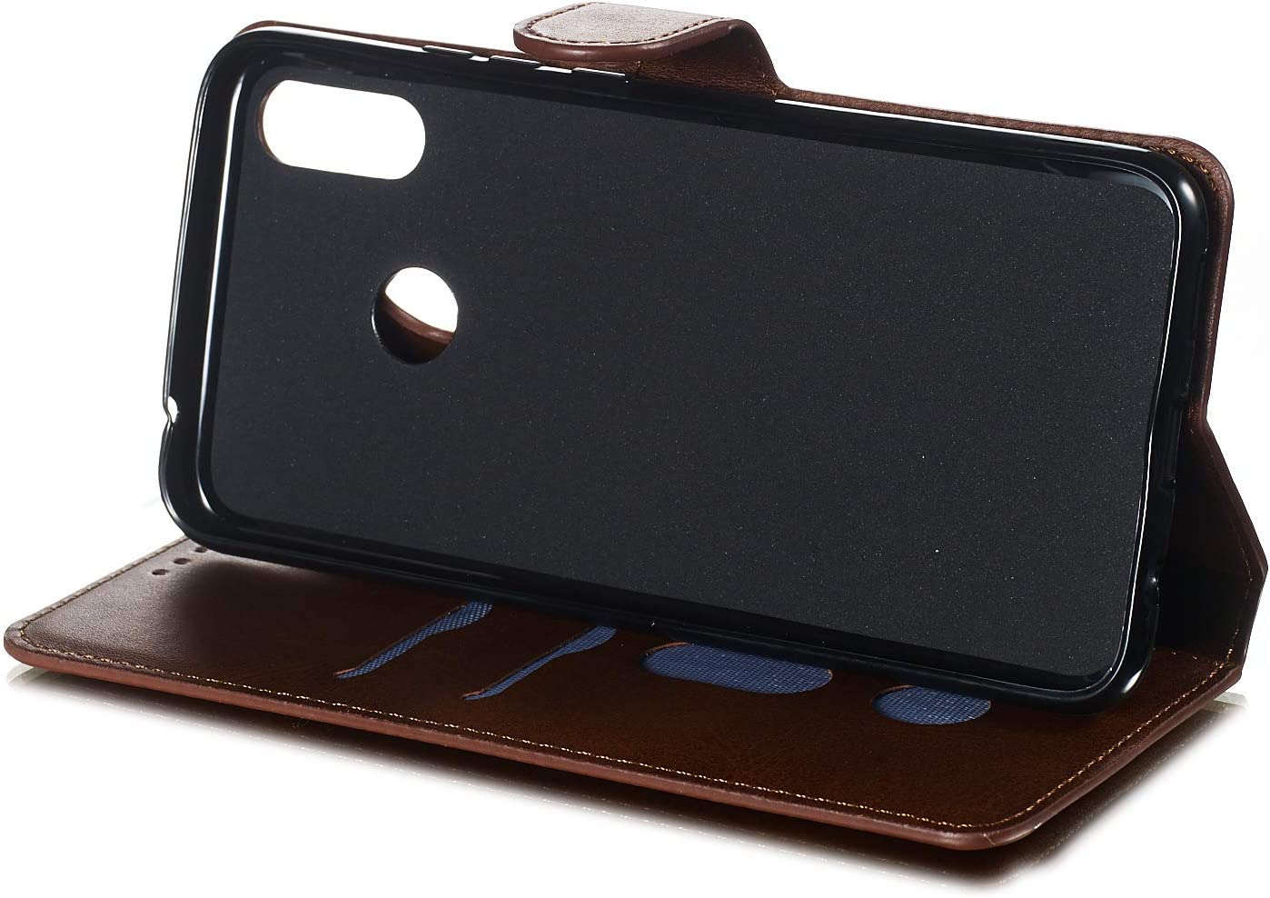 Portafoglio LOYYO080342 Blu Lomogo Cover Huawei P Smart Custodia a Libro Pelle Porta Carte Chiusura Magnetica Antiurto Flip Wallet Case per Huawei P Smart Plus//Nova 3i