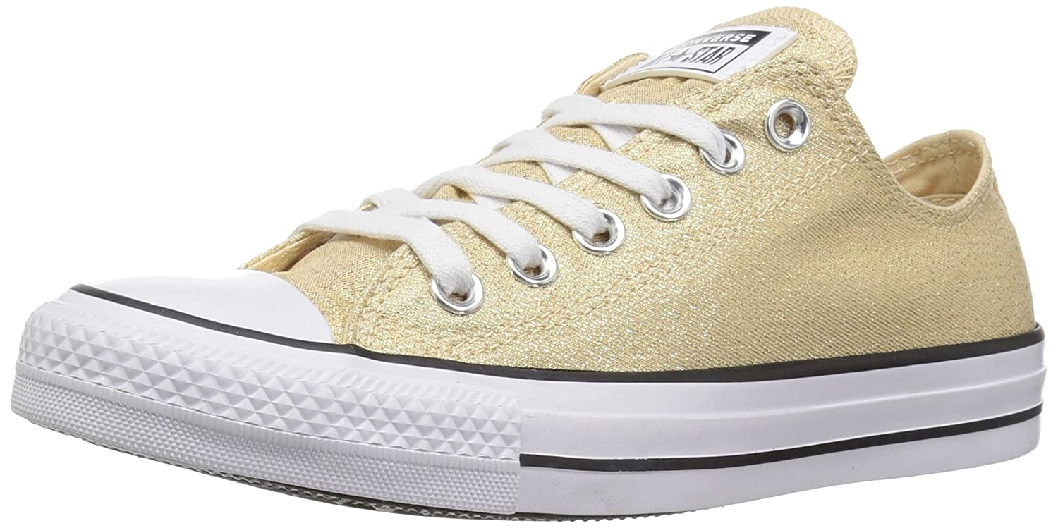 Converse Women's Chuck Taylor All Star Shiny Tile Low Top Sneaker B078NJ2ZV2 7 M US|Light Twine/White/Black