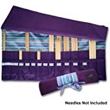 della Q Knitting Roll for Double Point Knitting Needles; 018 Purple Stripes 158-1-018