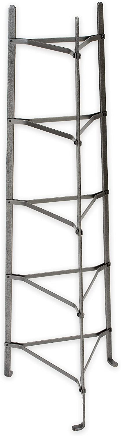 Enclume 5-Tier Cookware Stand, Free Standing Pot Rack, Hammered Steel (Unassembled)