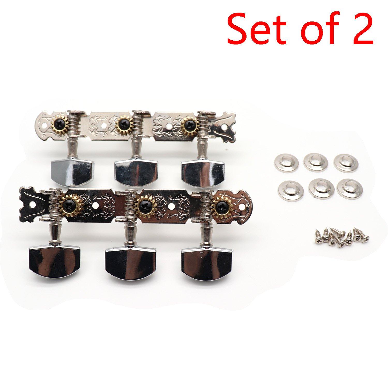 Timiy Guitar String Tuning Machine Head/Guitar Tuning Keys 3 Left/3 Right Alignment- Set of 2