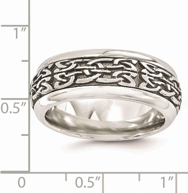 Bridal Wedding Bands Fancy Bands Titanium Beveled Edge 6mm Black IP-plated Satin//Polished Band Size 12
