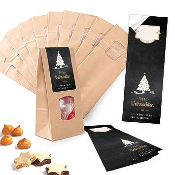 25 pequeñas bolsas de papel Papel Kraft Marrón con suelo ...