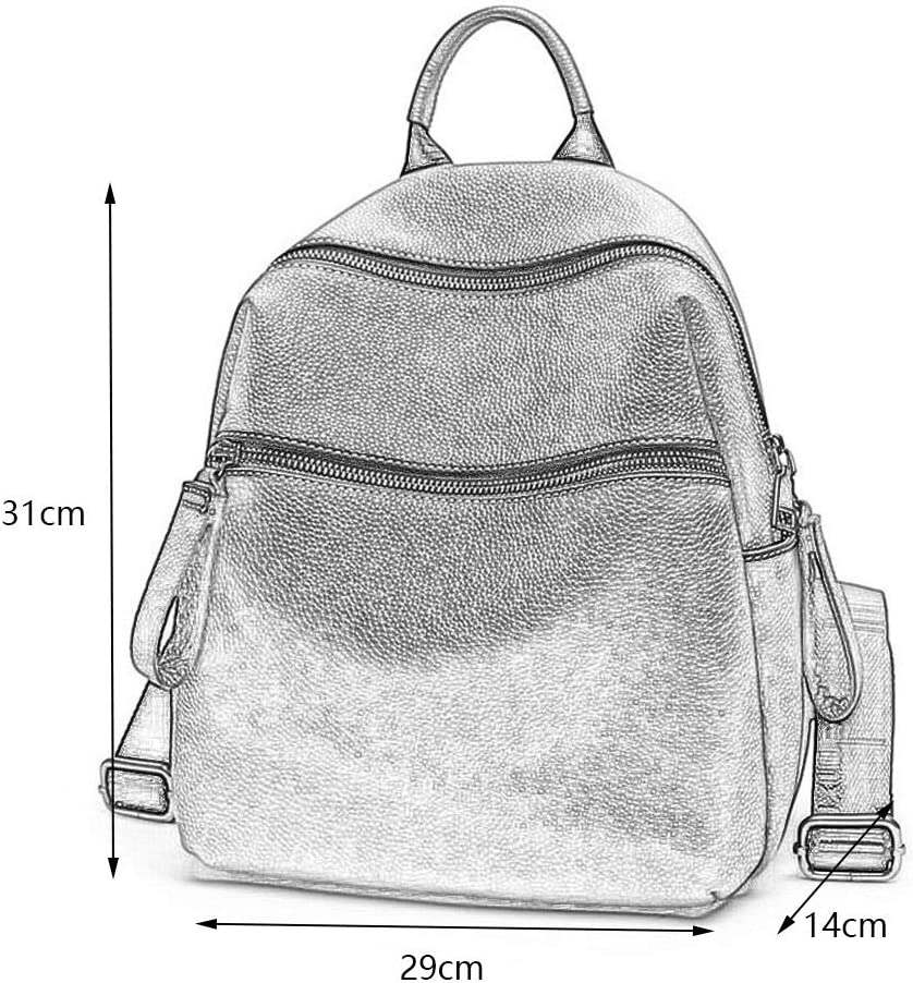 Multipurpose Daypacks Leather Shoulder Bag Ladies Fashion Large Capacity Soft Leather Travel Backpack College Wind Bag 29/×14/×31CM