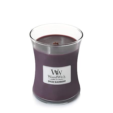 WoodWick, candela profumata con Pluswick Innovation, foglia di paraffina e tuberosa, grande clessidra