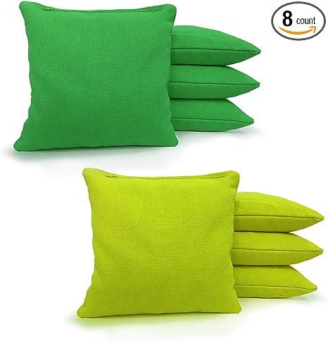 CORNHOLE BEAN BAGS Bright Orange /& Green 8 ACA Regulation Corn Hole Game Bags