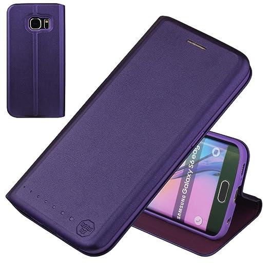 14 opinioni per Nouske Carte Fessura Custodia per Samsung Galaxy S6 Edge/Flip Wallet Book