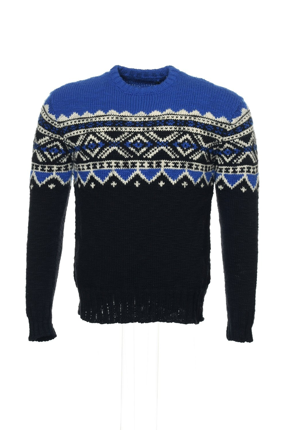 Polo Ralph Lauren Men's Nordic-Print Sweater Small Blue/Black/White by RALPH LAUREN (Image #1)