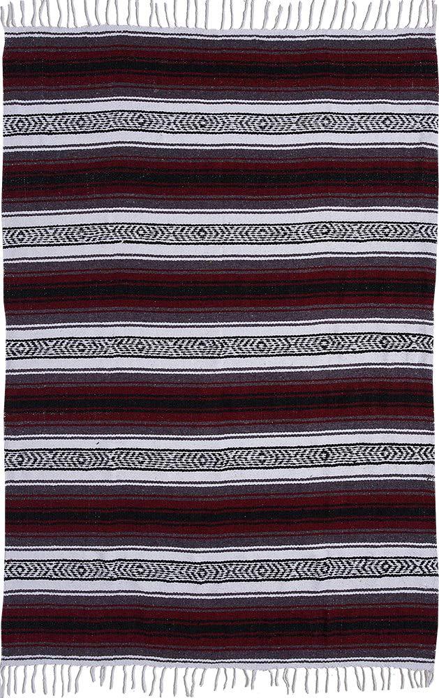 El Paso Designs Genuine Mexican Falsa Blanket - Yoga Studio Blanket, Colorful, Soft Woven Serape Imported from Mexico (Burgundy) by El Paso Designs (Image #5)