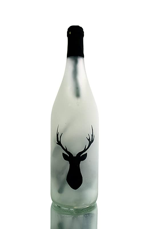 Stag Lighted Wine Bottle Lamp