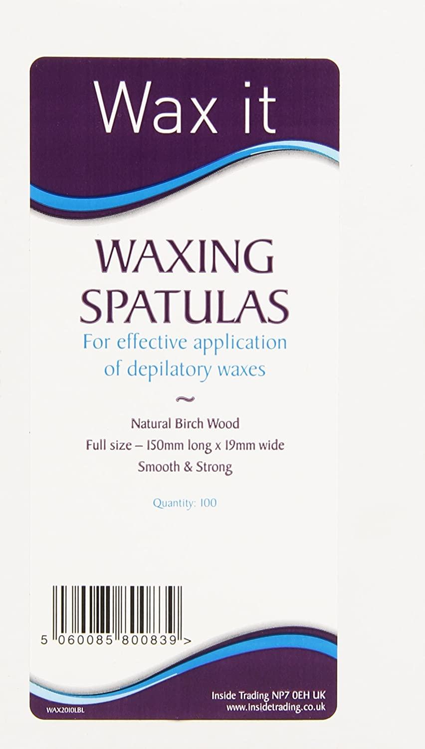 Wax It Wooden Wax Spatulas Applicator Healthcenter WAX2010