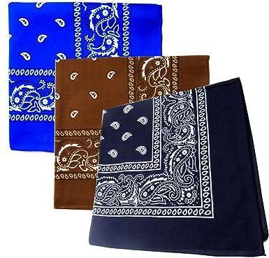 Pañuelo para la cabeza bufanda pañuelos algodón morado/rosa/azul ...