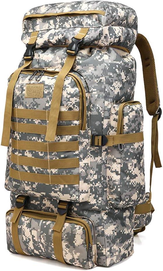 Nysunshine 80L Grand Sac /à Dos Camouflage Sac /à Dos pour randonn/ée Militaire Camping Survie