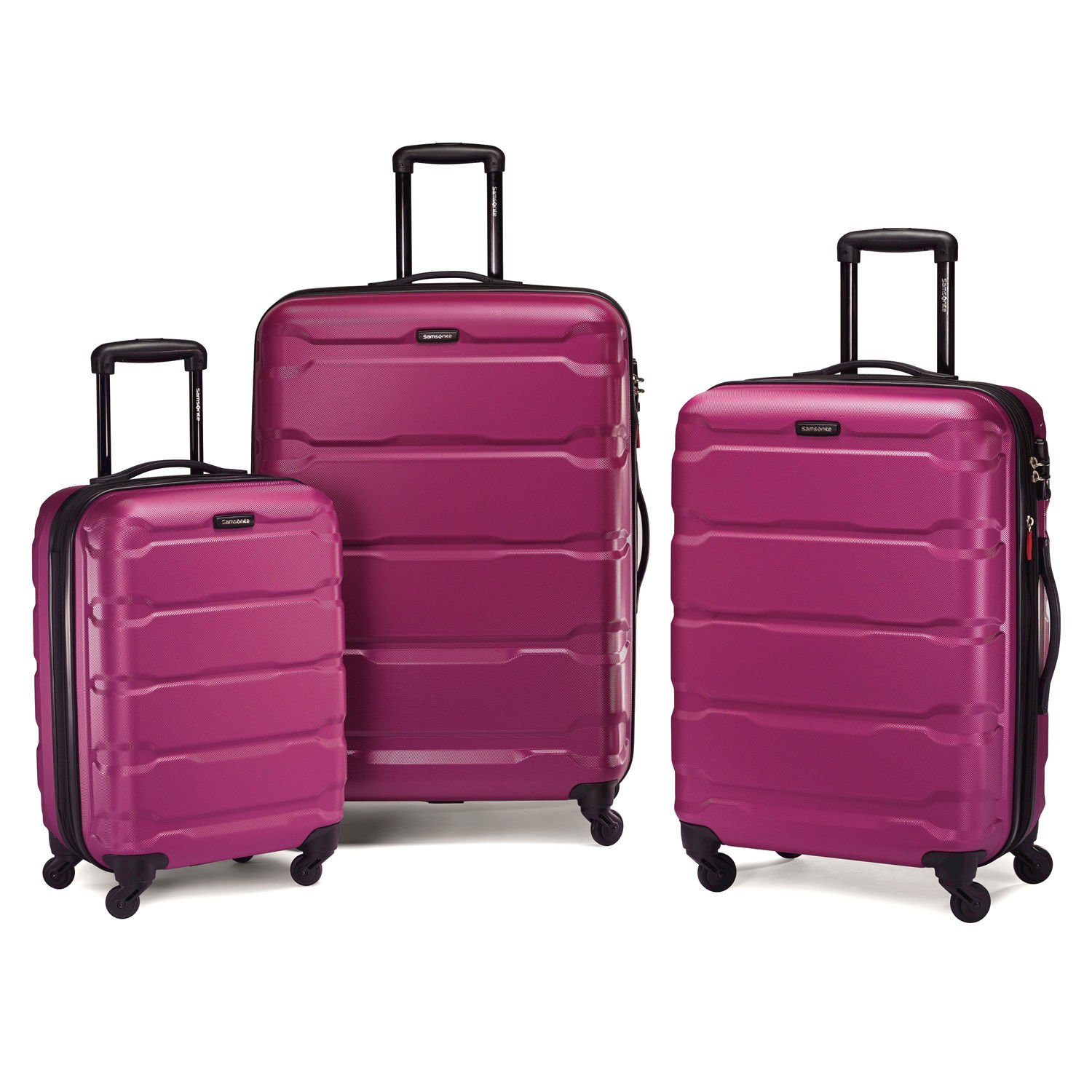 Amazon.com | Samsonite Omni PC 3 Piece Hardside Spinner Set ...